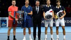Mike Bryan en Jack Sock winnen dubbelfinale ATP Finals na spannende partij
