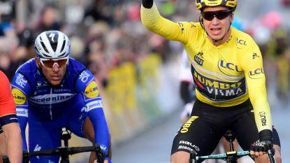 Gele trui Groenewegen sprint andermaal naar bloemen na hectische rit in Parijs-Nice, Gilbert derde