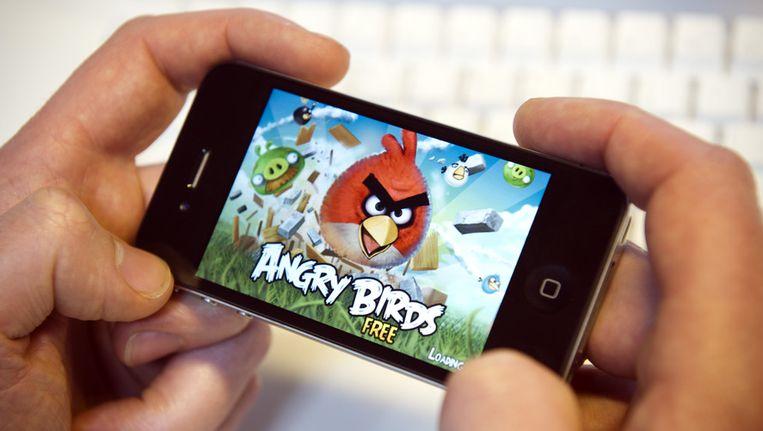 De app Angry Birds op een smartphone Beeld anp