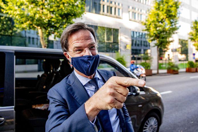 Premier Mark Rutte na afloop van de EU-top