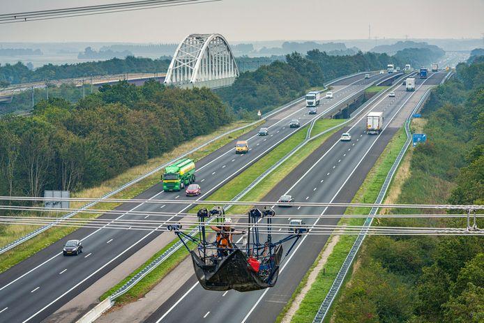 Ter hoogte van Rilland wordt al volop gewerkt aan de 380 kV hoogspanningsleiding.