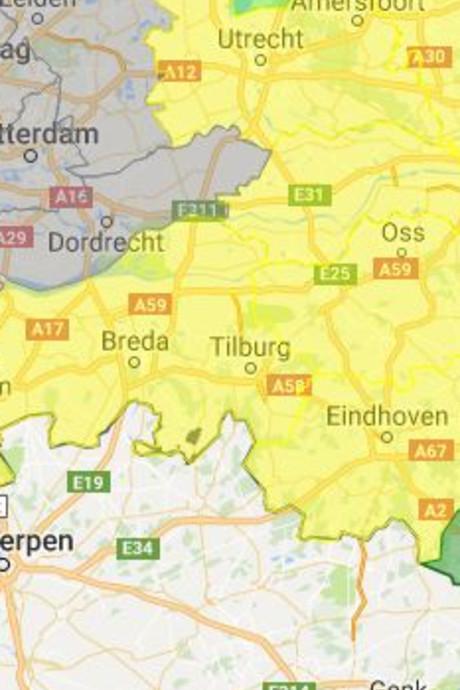 Code geel: grotere kans op bosbranden in Brabant
