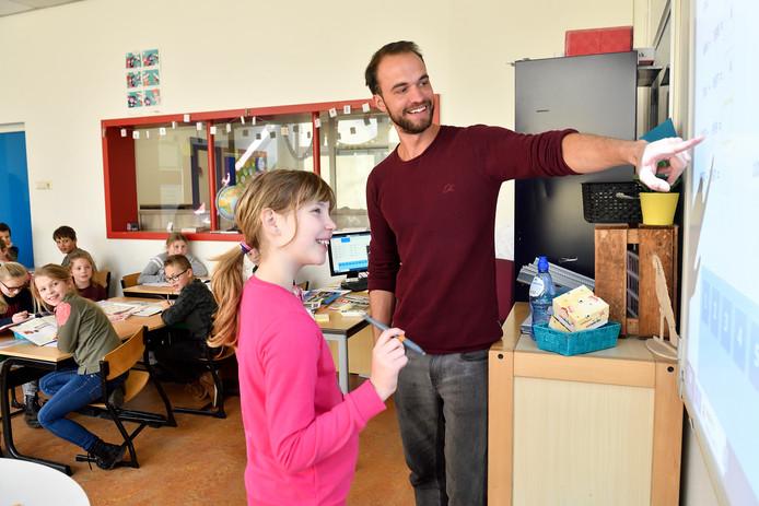Meester Ruben was afgelopen schooljaar zij-instromer in het onderwijs op de Amersfoortse basisschool Langenoord.