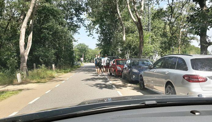 Bergsebaan vol auto's, het leverde tientallen bekeuringen op donderdag.