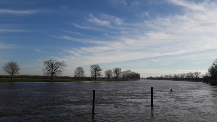 Hoogwater zorgt in het Land van Cuijk nauwelijks voor problemen.