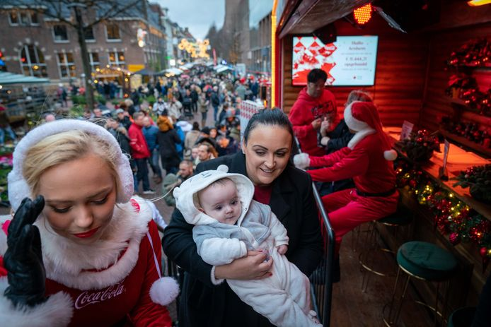 Beeld van de kerstmarkt van Arnhem in 2019.