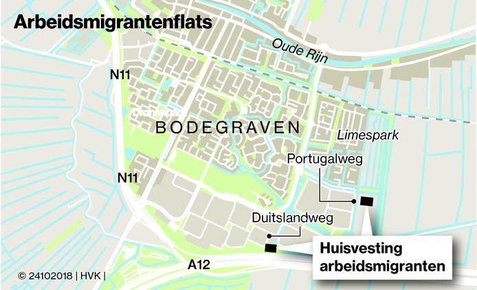 Arbeidsmigrantenflats in Bodegraven