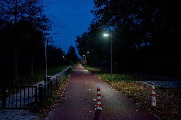 Hier is nog redelijk goede straatverlichting.