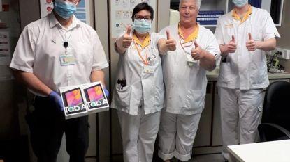 Horeca regio Tienen overhandigt tablets aan het RZ Tienen