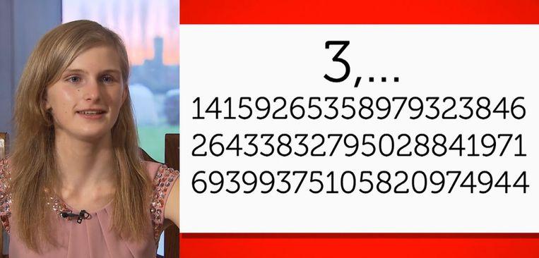 Laura was 15 toen ze elke dag honderd cijfers na de komma vanbuiten leerde.