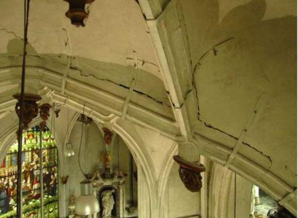 Het gewelf van de Sacramentskapel in de Sint-Romboutskathedraal