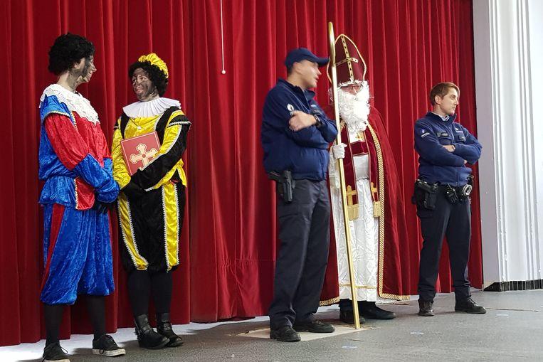 Sinterklaas en zijn pieten moesten zich bewijzen in de  Vrije Basisschool Jan Ruusbroec.
