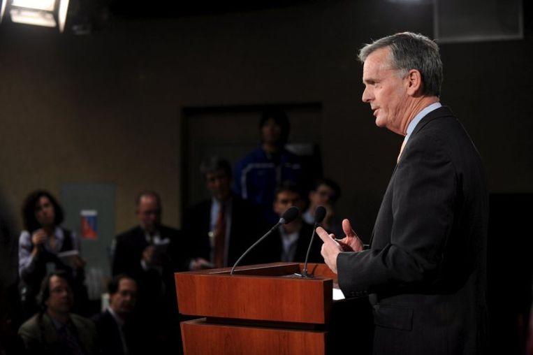 Jude Gregg: 'Het zou heel moeilijk zijn geweest deel uit te maken van dit kabinet' Foto EPA/Matthew Cavanaugh Beeld