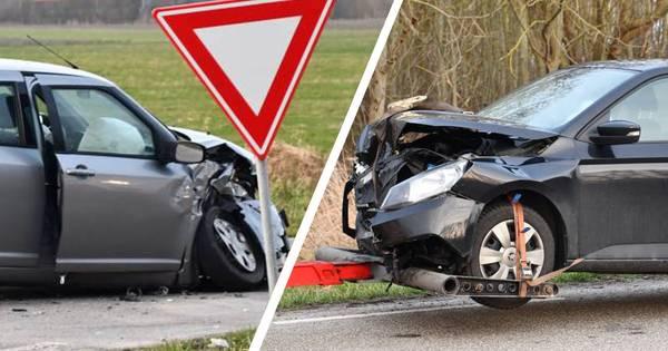 Meerdere gewonden en flinke schade bij botsing Zoutelande.