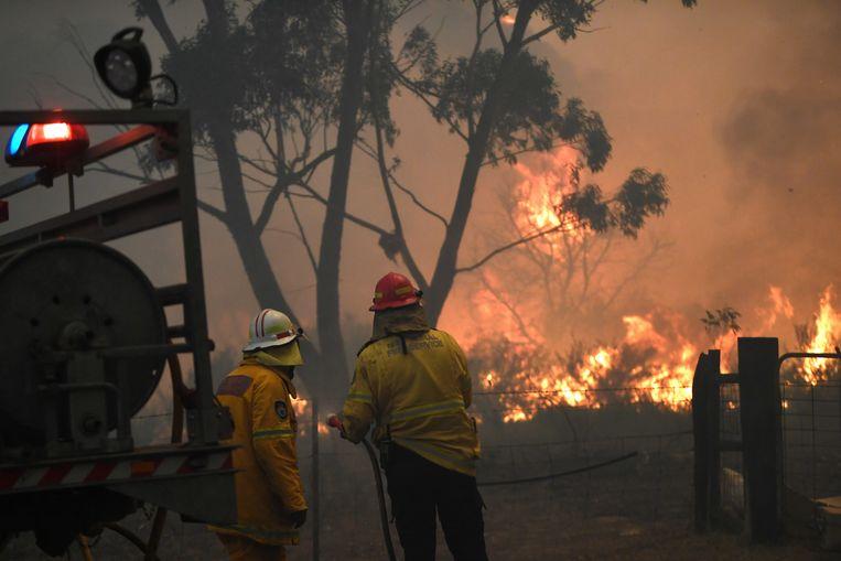 De weersomstandigheden leidden tot natuurbranden in New South Wales. Beeld EPA