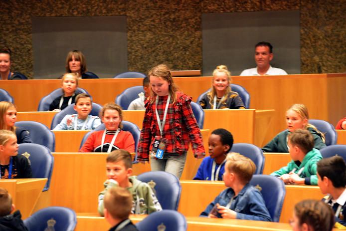 In de Tweede Kamer werd onlangs een vragenuur voor kinderen gehouden.