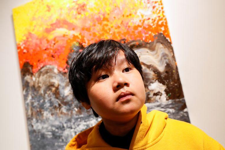 Xeo Chu's schilderijen worden al vergeleken met die van Jackson Pollock.  Beeld REUTERS