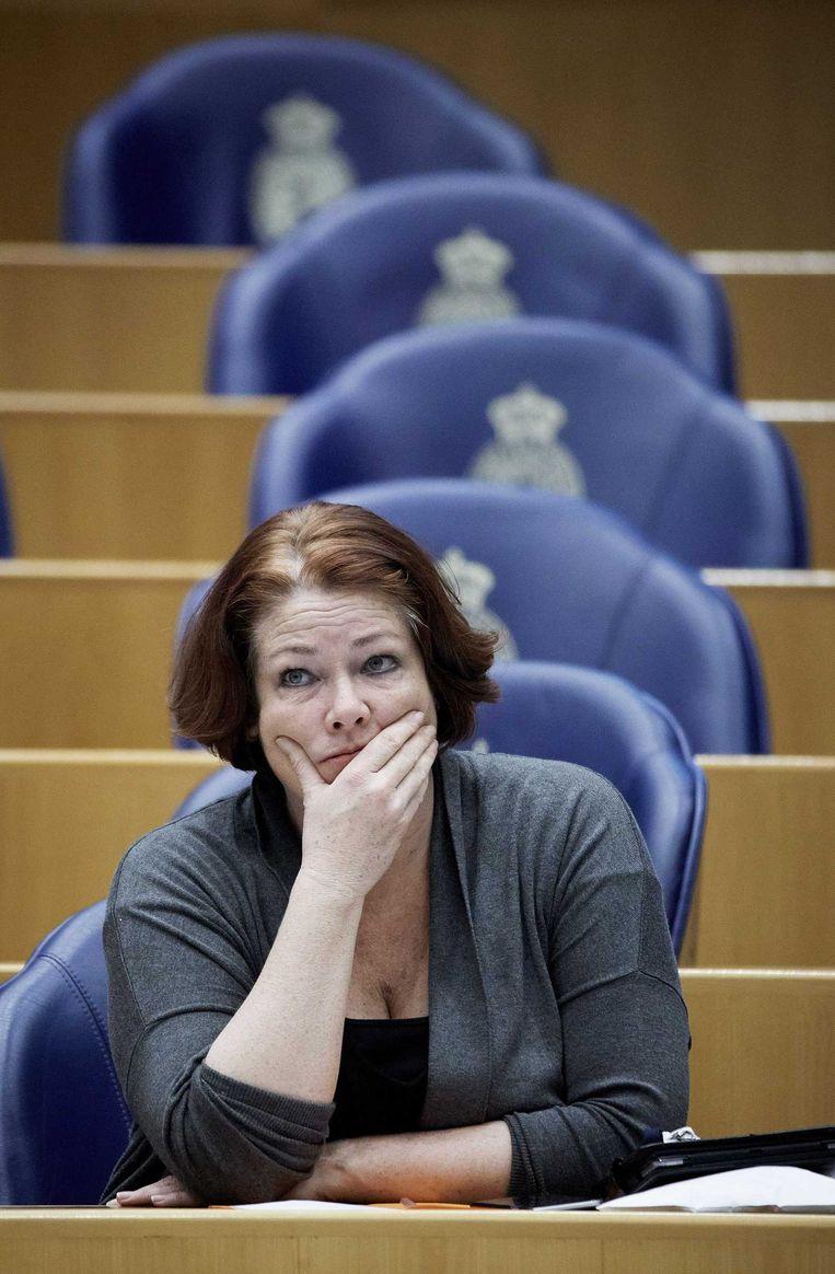 PVV-Kamerlid Karen Gerbrands in de Tweede Kamer. Beeld anp
