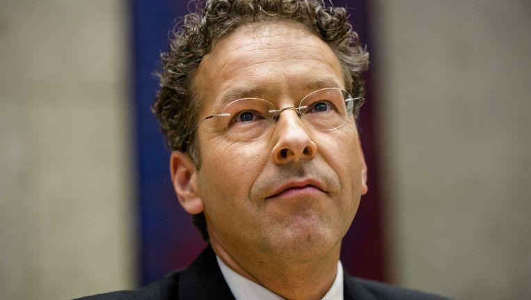 Minister Dijsselbloem tijdens het aanbieden van de miljoenennota in de Tweede Kamer. Beeld ANP