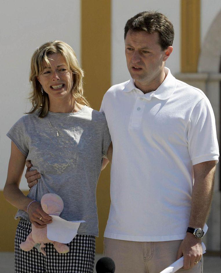 Kate en Gerry McCann de dag na de verdwijning van hun dochter.