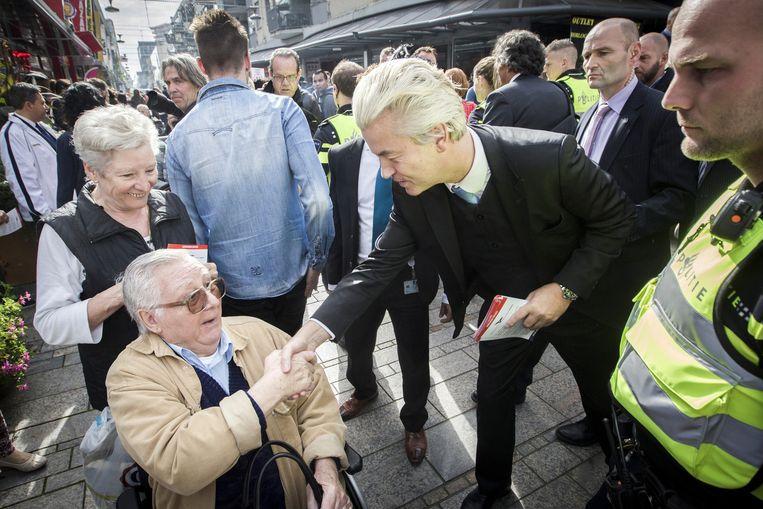 Geert Wilders in Almere. Beeld anp