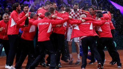 VIDEO. Dolle vreugdetaferelen bij Kroatië, dat dankzij Cilic tweede eindzege in Davis Cup pakt