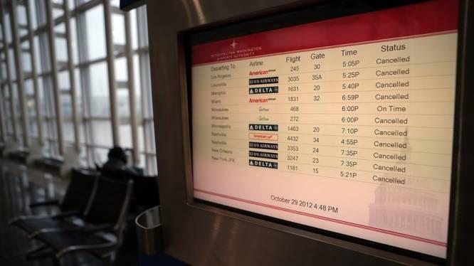 Sandy legt luchtverkeer in VS lam