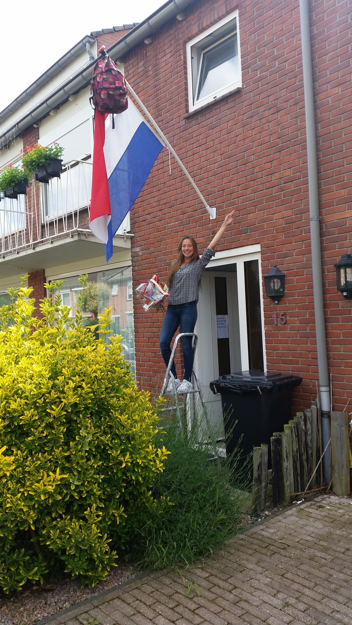De vlag in top bij de familie Van Zon.