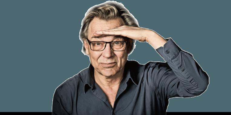 Jan Mulder teaser column Beeld Humo