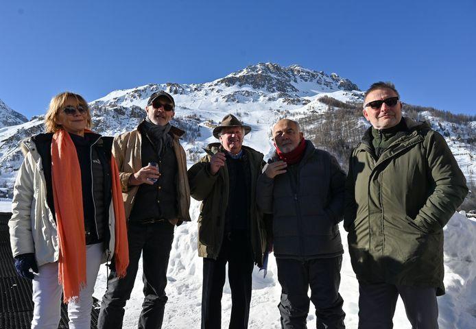 Marie-Anne Chazel, Thierry Lhermitte, le producteur Yves Rousset-Rouard, Gérard Jugnot et le réalisateur Bruno Moynot.