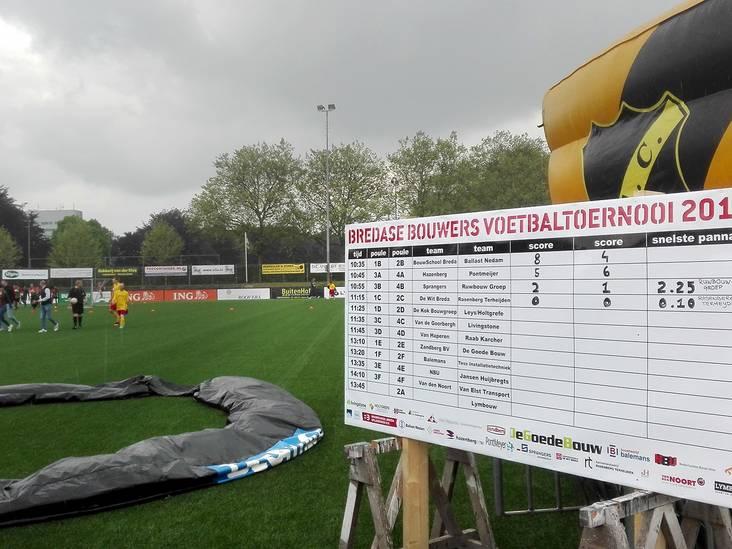 Essentie van Bredase Bouwers Voetbaltoernooi: alleen Bredase bouwvakkers en vooral gezelligheid
