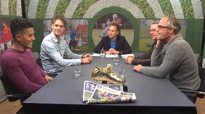 Van links naar rechts: Salim ben Sellam, Tim Mechelink, Jurriën Dam, Adri Franke en Rudy Boogert.