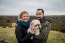 Mirjam en Ruben Tulling in januari 2018 met hond Raiko.