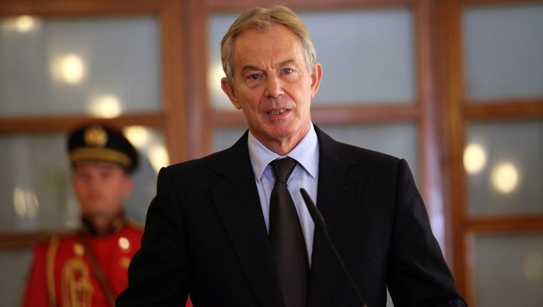 De voormalige Britse premier Tony Blair Beeld epa