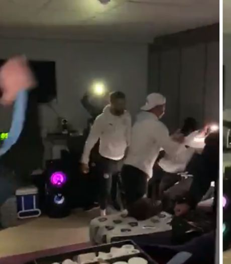 Les joueurs de Manchester City faisaient déjà la fête avant leur match à Burnley