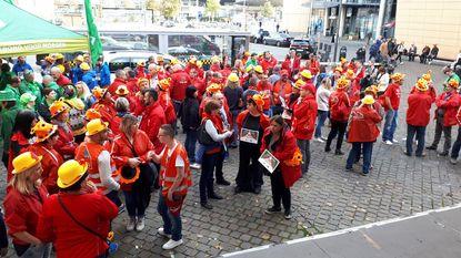 200 vakbondsmilitanten protesteren tegen flexi-jobs