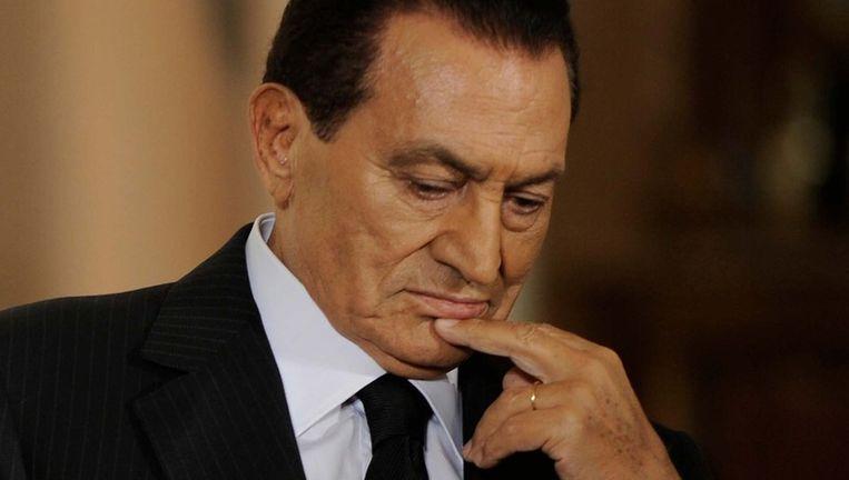 Hosni Mubarak. Beeld