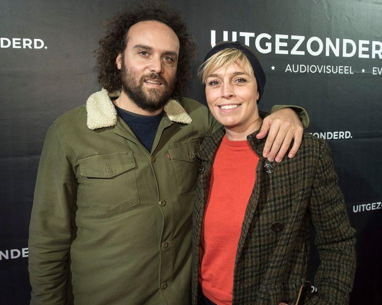 Britt van Marsenille met haar partner Frederik.