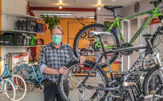 Patrick Tilleuil, in fietsenhandel Spitter.
