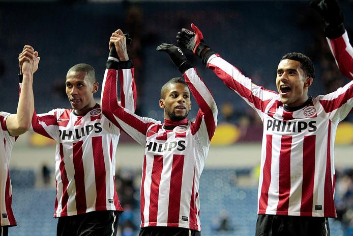 Een spaarzaam hoogtepunt in de recente Europa League-geschiedenis van PSV: door een doelpunt van Jeremain Lens tegen Glasgow Rangers wordt in 2011 de kwartfinale bereikt.