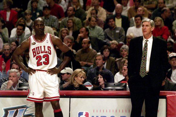 Michael Jordan en Jerry Sloan.