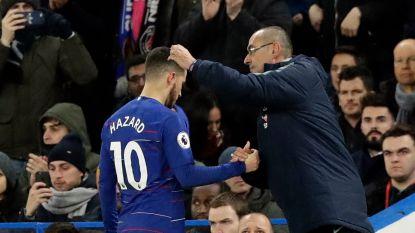 """""""Of Eden Hazard mij frustreert?"""" Maurizio Sarri lacht eens hartelijk: """"Soms wel ja. Ik hoor hem liever met de voeten praten"""""""