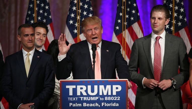 Trump viert in Florida zijn overwinningen in drie staten. Beeld Getty
