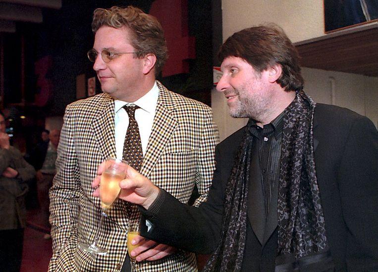 Robbe De Hert en prins Laurent op de première van 'Gaston's Oorlog' in 1997