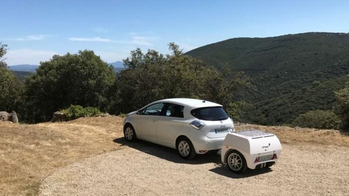 Een powerbank op wielen van de Franse firma EP Tender.