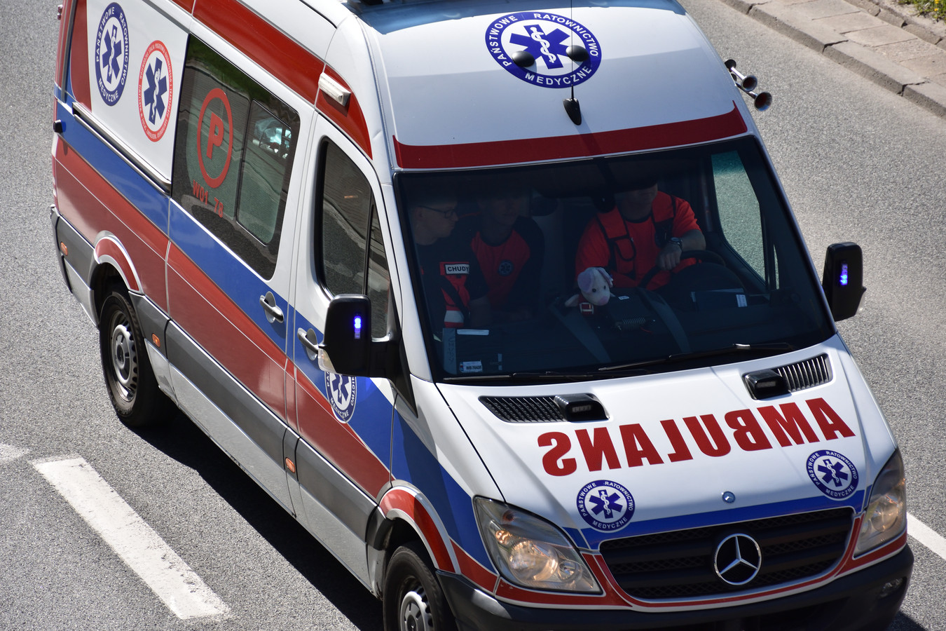 Een Poolse ambulance. Foto als illustratie.