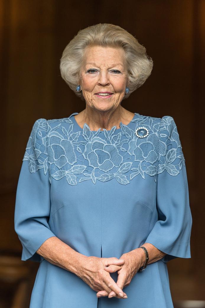 Prinses Beatrix ter gelegenheid van haar 80ste verjaardag.