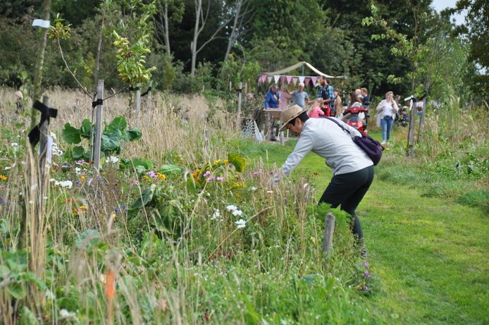 Een mooi graspad leidde bezoekers door het Waspikse Voedselbos. Onderweg stonden kraampjes waar veel te zien en te doen was.