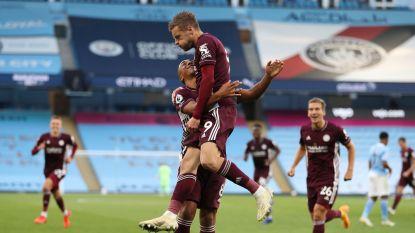 LIVE. Sensatie in Manchester: Vardy zet Leicester na hattrick op 1-3, Castagne met knappe assist voor 1-2