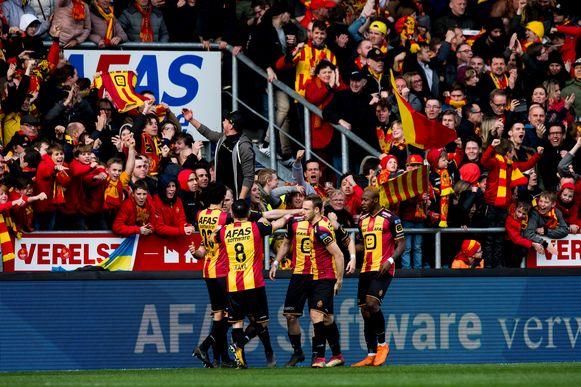 KV Mechelen tijdens de titelmatch.